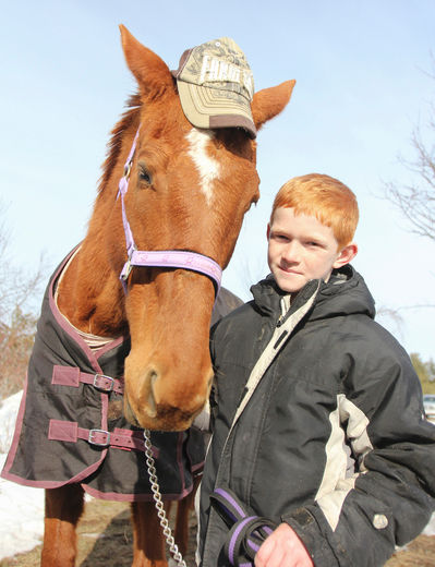http://www.thewhig.com/2015/03/13/brandon-heyman-used-his-birthday-money-to-save-17-year-old-horse-karazan-from-being-slaughtered
