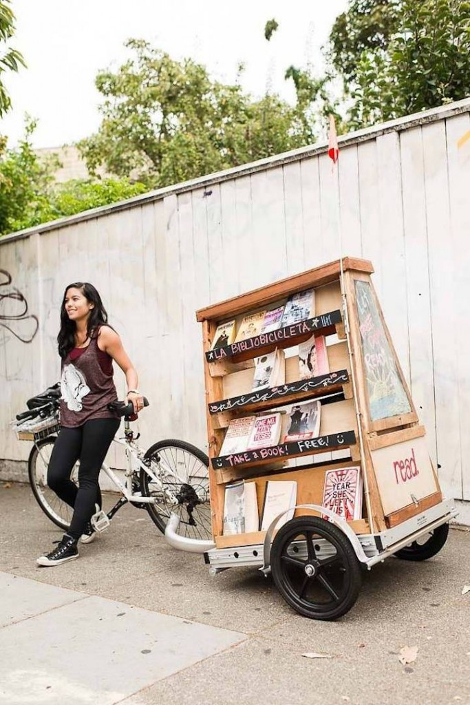 http://www.visualnews.com/2015/08/29/this-librarian-bicycles-around-san-francisco-towing-a-miniature-library-with-free-books/